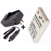 Kit Bateria Enel5 + Carregador P/ Câmera Digital Nikon P520