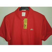 Camisa Polo Masculina Vermelha Marca Famosa Tm 05/ Gold
