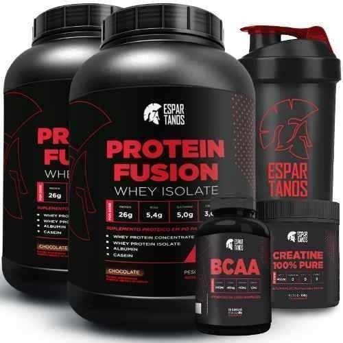 626672625 Kit Duplo Whey Protein Fusion + Bcaa + Creatina + Copo. R  119.9