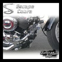 Protetor Motor Mata Cachorro Com Pedal Cobra Drag Star 650 Y