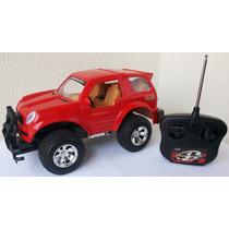 Carrinho Controle Remoto Pajero Jeep Pneus Borracha Promoção