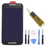 Display Touch Moto G3 Preto Branco + Ferramentas + Cola 15ml