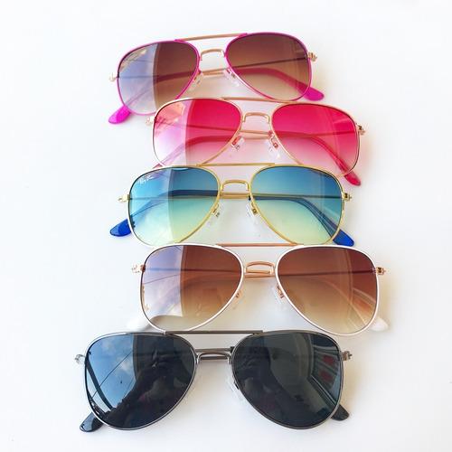 Óculos De Sol Infantil Aviador Proteção Uv Menina E Menino. Preço  R  29 99  Veja MercadoLibre d16c01ae8f