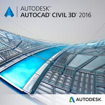 Autcad Civil 3d 2016 - 64 Bits Entregue Email/downl. + Curso