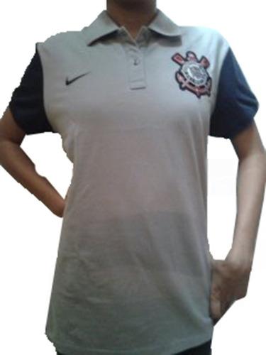 Camisa Pólo Nike Corinthians Feminina Cinza Tam. G e3a17f131c1b1