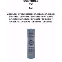 Controle Remoto Tv Lg 6710v00008k Cp-14b85 Cp-14b86 Cp-20k40