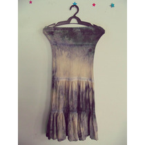 Vestido Tie-dye Malha Tomara-que-caia Cód. 114