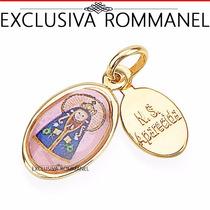Rommanel Pingente Medalha Infantil Senhora Aparecida 541692