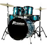 Bateria Premium Dx722 Bl - Acústica, Cor Azul, Bumbo 22'',