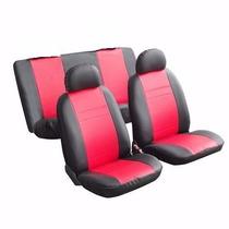 Capas De Banco Couro Sintético Fiat Tipo Esportiva Vermelha