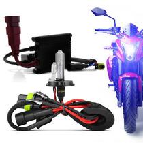 Kit Xenon Moto H4-2 10.000k Azul Ultra Forte - Reator Slim