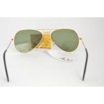 Óculos Aviador Infantil Armação Dourada Lentes Degrade B81