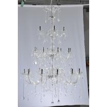 Lustre Cristal Maria Tereza 24 Braços Transparente - Adn+