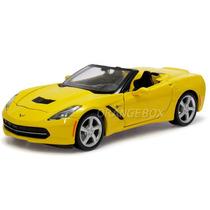 Corvette Stingray 2014 Conversível 1:24 Maisto 31501-amarelo
