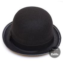 Chapéu Coco Bowler Chaplin Preto Feltro Promoção
