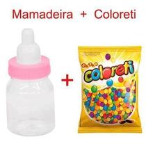 40 Mini Mamadeira + Coloreti Chá De Bebê Rosa Melhor Preço