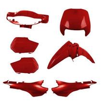 Kit Plástico Carenagem P/ Biz 100 Ano 2004 2005 - Vermelho