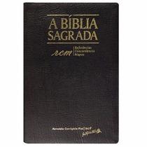 Bíblia Sagrada Rcm Letra Gigante Couro Legítimo Preta