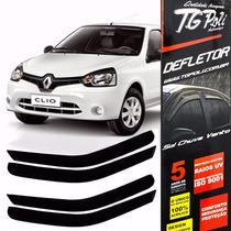 Calha Defletor De Chuva Renault Clio 2000/2016 4p - Tg Poli