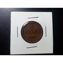 Antiga E Rara Moeda, 5 Pennia, Finlândia 1866 #mf0019