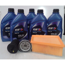 Óleo Elf 10w40 + Kit Filtros Clio/ Logan/ Sandero 1.6 16v