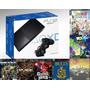 Playstation 2  15 Jogos   2 Controles    Memory Card  brinds