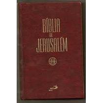 Bíblia De Jerusalém=nova=capa Dura=ultima Edição=paulus=gros