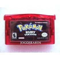 Gba: Pokemon Ruby E Sapphire Originais Americanos! Raridade!