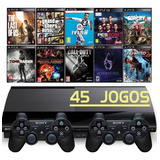 Ps3 Super Slim + 2 Controles + Gta5 + Fifa 19 + God Of War