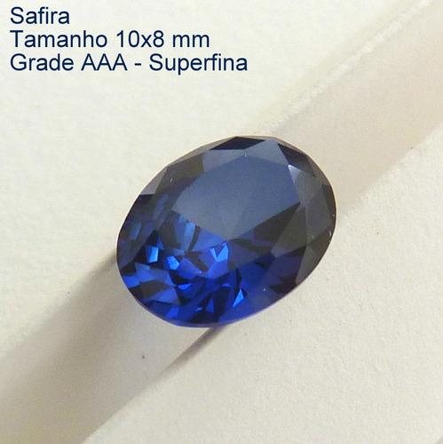2db263e40a1 Safira Azul Pedra Preciosa Safira Oval 10x8 Mm 3051