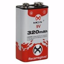 Bateria Mox 9v Recarregável 320 Mah Brinquedo, Radio, Outros