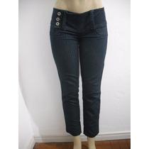 Calça Jeans Feminina Tipo Frisada Listras Tam 40 Ótimo Estad