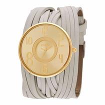Relógio Euro Florença Eu2035bv/2x De Couro Bege Original Nf