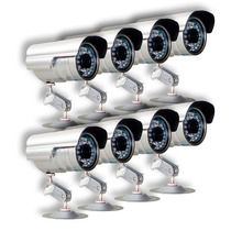 Kit 8 Cameras Seguranca Infra Ccd Digital 36 Leds 30 Mts