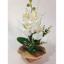 Arranjo De Orquídea Artificial Branco.