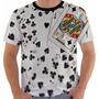 Camiseta 2244 Baralho Poker Cartas Naipes Color Rei De Ouros