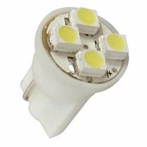 Lampada Branca Pingo T10 Com 4 Leds Unidade - Frete 9,90