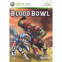 Jogo Xbox 360 Blood Bowl Original E Lacrado Midia Fisica