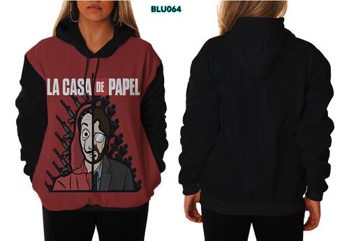 124928129 Blusa De Frio Moletom Unissex La Casa De Papel Série à venda em ...