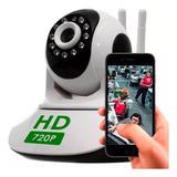 Câmera Ip Robô Visão Noturna Hd Wifi Sem Fio Gira 360º Áudio