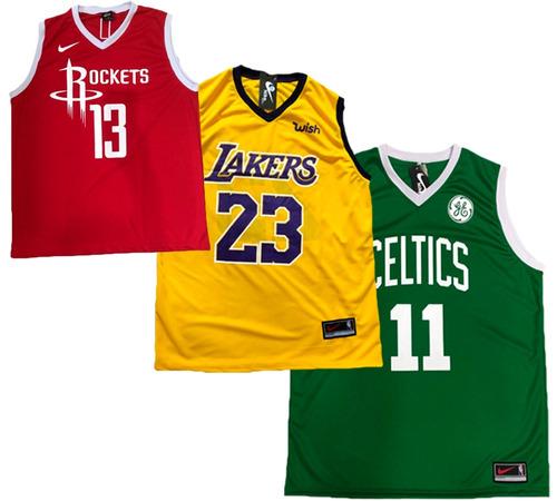 9cd25ac6e90 Kit 4 Camiseta Regata Basquete Musculação Bulls Lakers Cavs