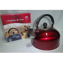 Chaleira Inox 2.0 Litros Color Vermelho Art House - Leilao *