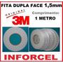 Fita Adesiva 3m Dupla Face 1,5mm Reparo Touch Lcd (1 Metro)