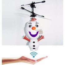 Boneco Olaf Fronzen Voador Helicóptero Led Músical Indutivo