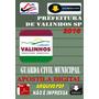 Apostila Digital Prefeitura Valinhos Sp Guarda Muncipal 2016