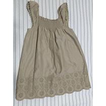 Vestido Infantil Carters Tamanho 24 Meses Bege