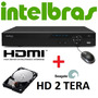 Dvr Stand Alone 16 Canais Vd 3016 480c Intelbras + Hd 2 Tb