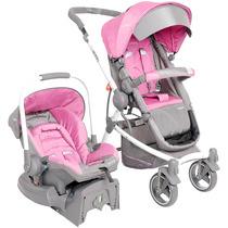 01 Carrinho De Bebê Kiddo Aspen 5154 - Rosa