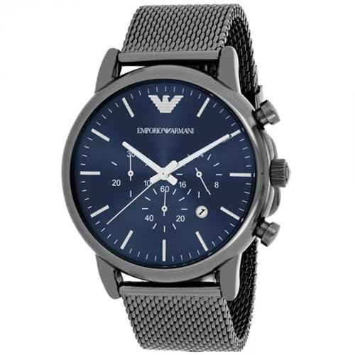 fe82282055a Relógio Luxo Emporio Armani Ar1979 Cinza Aço Novo