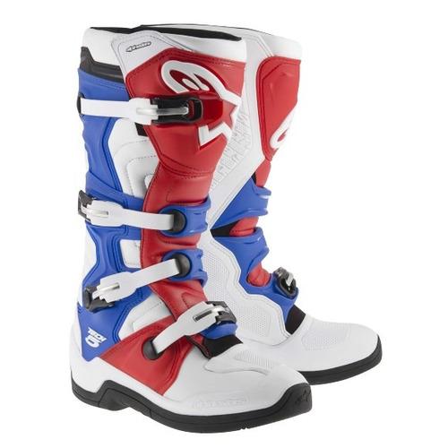 Bota Alpinestars Tech 5 Branco / vermelho / azul 8 ( 39 / 40 ) Rs1